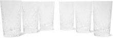 Barwell Set Of Six Cut Crystal Highball Glasses - Clear