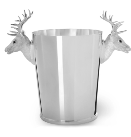 Stag Sterling Silver Champagne Cooler - Silver