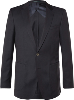 Blue Nordon Slim-fit Birdseye Wool Blazer - Navy