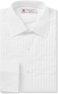 White Sea Island Cotton Tuxedo Shirt - White