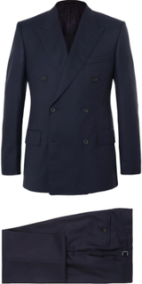 Harry's Navy Super 120s Wool And Cashmere-blend Suit - Navy