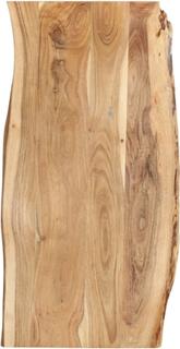 vidaXL Bordplate heltre akasie 120x(50-60)x2,5 cm