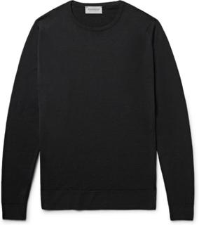 Lundy Slim-fit Merino Wool Sweater - Black