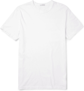 Combed Cotton-jersey T-shirt - White
