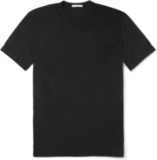 Combed Cotton-jersey T-shirt - Black