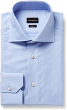 Light-blue Trofeo Slim-fit Cutaway-collar Cotton-poplin Shirt - Light blue