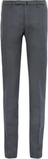 Slim-fit Garment-dyed Linen And Cotton-blend Chinos - Charcoal