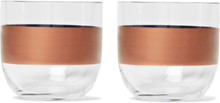 Tank Set Of Two Painted Whisky Glasses - Clear