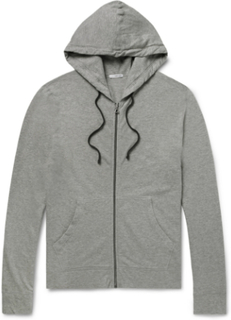 Loopback Supima Cotton-jersey Zip-up Hoodie - Charcoal
