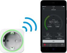 VOLTCRAFT SEM6000 Energimätare Bluetooth®-gränssnitt, Dataexport, Dataloggerfunktion, TRMS, Eltariff inställbar, med app-styrning
