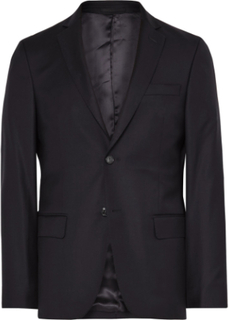 Blue Slim-fit Wool Blazer - Navy