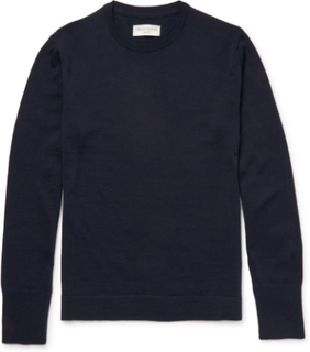 Merino Wool Sweater - Midnight blue