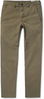Fit 2 Slim-fit Garment-dyed Stretch-cotton Twill Chinos - Army green