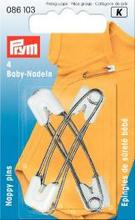 Babynål rostfritt stål vit 55 mm 4 st