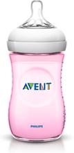 Philips AVENT Naturliche Futterung-Flaschen 260ml Prime Futterungen eine Zitze Slow Flow 1M + Rosa