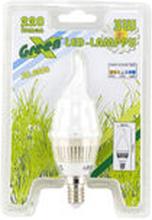 LED-lamppu E14, 3W, liekkimuoto, 30 000h - Lexxa GreenX