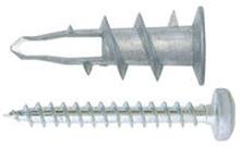 Kipsilevyankkuri 30mm 5kpl metallia ruuveilla