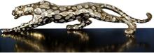 iEnjoy Leopard i guld, skulptur 108x23x22 cm
