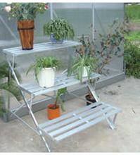 Kasvihuoneen porraspöytä, alumiini - VillaGreen C