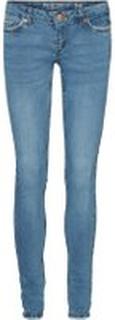 NOISY MAY Eve Lw Skinny Fit Jeans Kvinder Blå