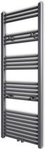 vidaXL Handdukstork centralvärme element rak grå 500 x 1424 mm