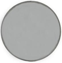 Velvet rund spegel 80cm - Beige/grå sammet