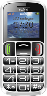 Senior-mobiltelefon Switel Hero M165 Sort