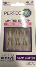 Perfect 10 Glam Glitter False Nails 48 kpl