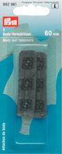 Fästanordning för Bodysuit med tryckfästanordning 60 mm svart 2 st