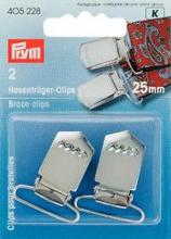 Hängselclips härdat Stål nick. 25 mm 2 st