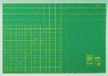 Skärmatta av plast grön cm/tum skala 90 cm 60 cm
