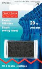 Elastisk sytråd 0,5 mm svart 20 m