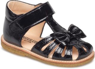 Sandals - Flat Sandaler Svart ANGULUS