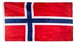 Norge Flagg EURO 2020 - Rød/Blå/Hvit