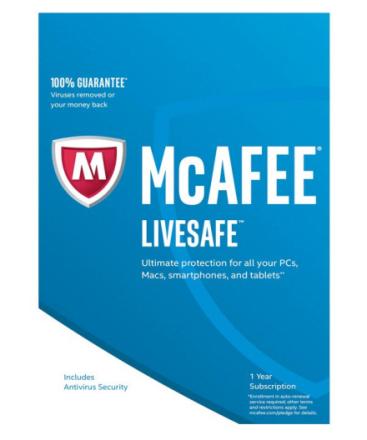 McAfee LiveSafe 2018 - 2 år