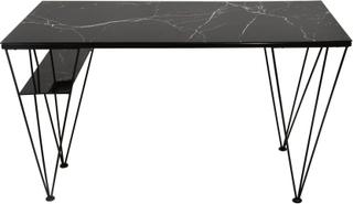Cube skrivbord svart marmorfolie 130 x 60 cm