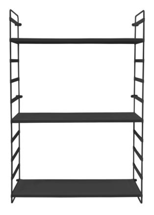 Linus vägghylla svart 60 x 95 cm
