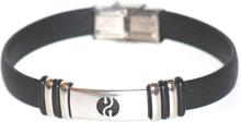 Armband rostfritt stål Hill svart