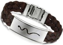 Armband rostfritt stål Matlock brunt