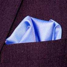 Bröstnäsduk blå vävd