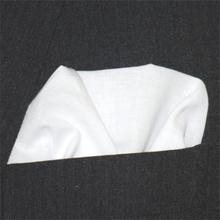 Bröstnäsduk bomull vit
