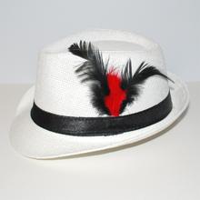 Hatt EVENING vit/svart