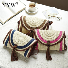 Tassel Handbag Female Summer Beach Straw Bag Lady Casual Fashion Knitted Shoulder Bag Travel Rattan Weave Messenger Clutch