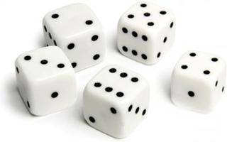 5st tärningar 10mm till Yatzy sällskapsspel familjespel brädspel