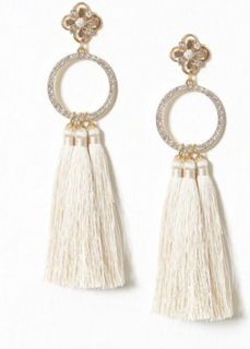 River Island Triple Tassel Drop Earrings Örhängen