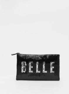 New Look Kvinder Taske/Sportstaske Belle Sequin i sort, One size