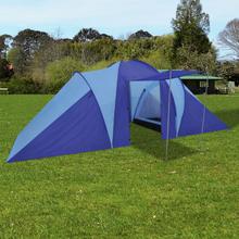 vidaXL Tält för 6 personer marinblå/ljusblå