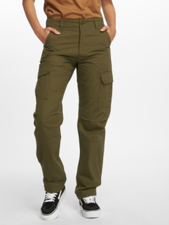 Dickies Kvinder Cargobuks Dickies Edwardsport Cargo Pants i oliven, W 28 L 32
