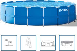 Intex Stålramme Rund Pool Sæt 549 x 122 cm 28252GN
