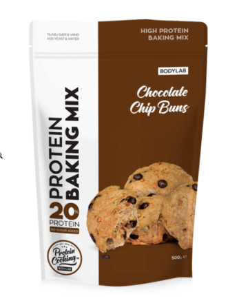 Bodylab Protein Baking Mix Chocolate Chip Buns, 500g.